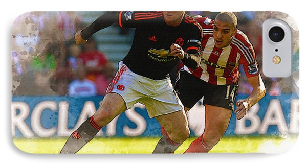 Wayne Rooney Is Marshalled IPhone Case by Don Kuing