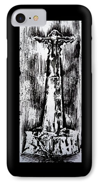 Wayside Cross IPhone Case by Lucy Deane