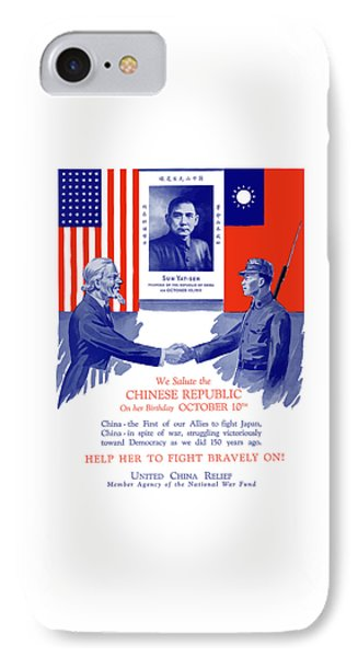 We Salute The Chinese Republic IPhone Case by War Is Hell Store