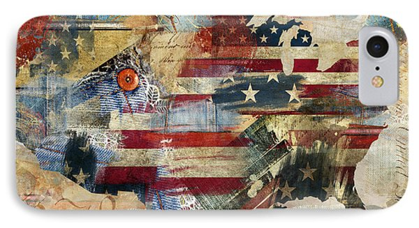 We The People Map America IPhone Case by Mindy Sommers