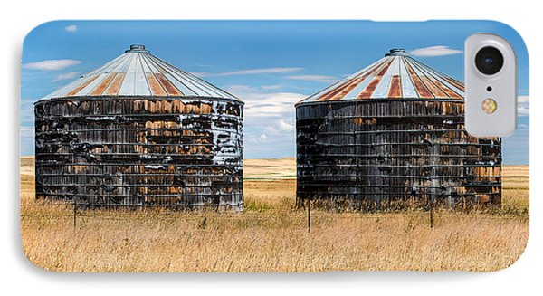 Weathered Old Bins IPhone Case by Todd Klassy