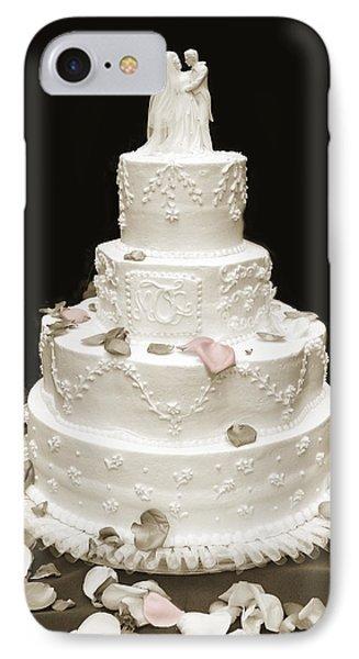Wedding Cake Petals Phone Case by Marilyn Hunt