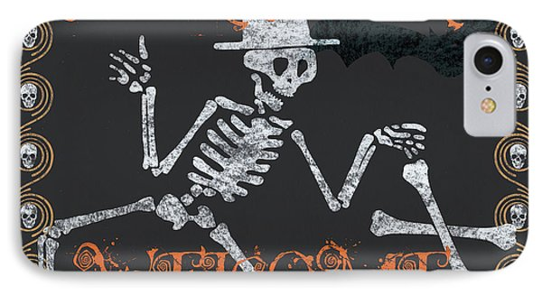 Welcome Ghoulish Guests IPhone Case by Debbie DeWitt