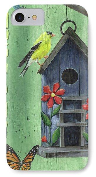 Welcome Goldfinch IPhone Case by Debbie DeWitt