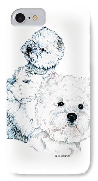 West Highland White Terriers Phone Case by Kathleen Sepulveda