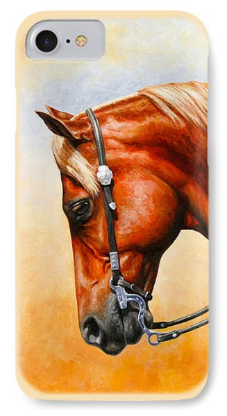 Western Pleasure Horse Phone Case IPhone Case by Crista Forest
