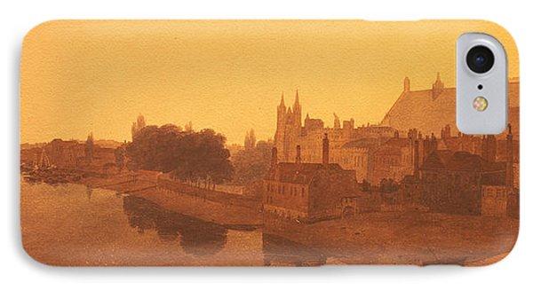 Westminster Abbey  IPhone 7 Case by Peter de Wint