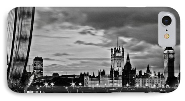 Westminster Black And White Phone Case by Dawn OConnor