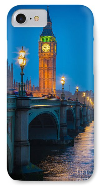 Westminster Bridge At Night Phone Case by Inge Johnsson