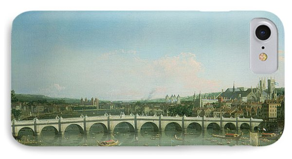 Westminster Bridge From The North With Lambeth Palace In Distance Phone Case by Canaletto