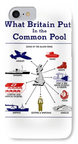 What Britain Puts In The Common Pool Phone Case by War Is Hell Store