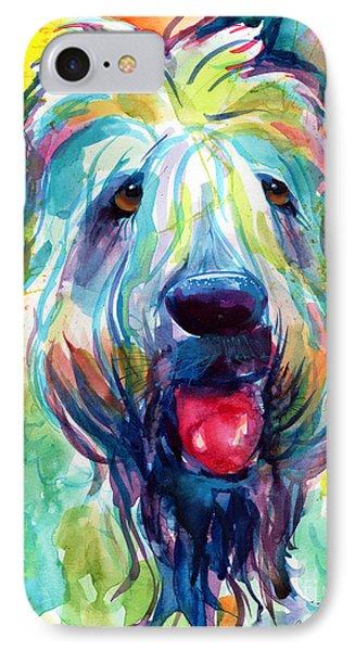 Wheaten Terrier Dog Portrait IPhone Case by Svetlana Novikova