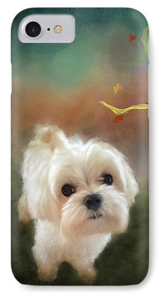 When Puppies Get Confused IPhone Case by Lois Bryan