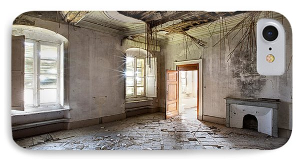 When The Ceiling Comes Down - Urban Exploration IPhone Case by Dirk Ercken