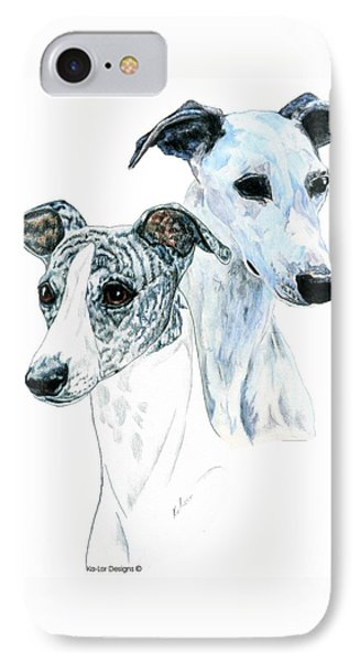 Whippet Pair Phone Case by Kathleen Sepulveda