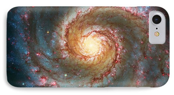 Whirlpool Galaxy  IPhone 7 Case by Jennifer Rondinelli Reilly - Fine Art Photography