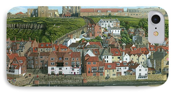 Whitby Harbor North Yorkshire  IPhone Case by Richard Harpum