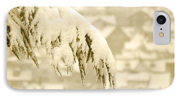 White Christmas - Winter In Switzerland IPhone Case by Susanne Van Hulst