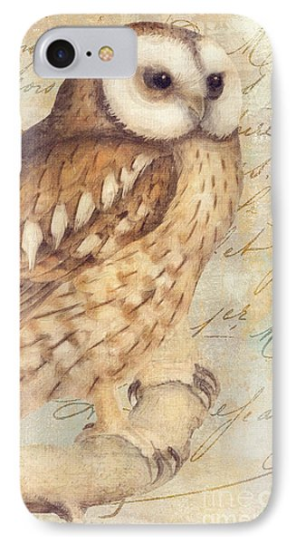 White Faced Owl IPhone 7 Case by Mindy Sommers