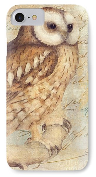 White Faced Owl IPhone Case by Mindy Sommers