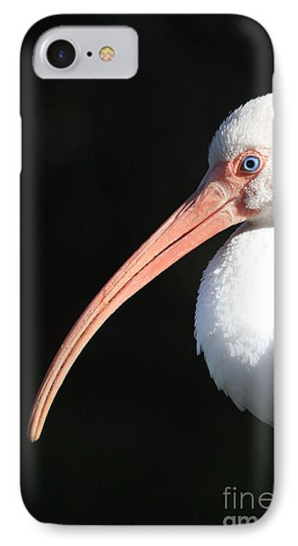 White Ibis Profile IPhone Case by Carol Groenen