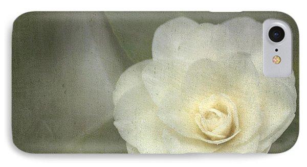 White In The Corner IPhone Case by Rebecca Cozart