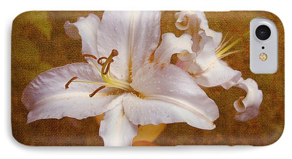 White Lilies. Time To Be Romantic Phone Case by Jenny Rainbow