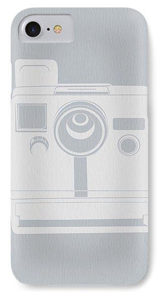 White Polaroid Camera IPhone Case by Naxart Studio