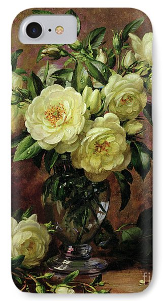 White Roses - A Gift From The Heart IPhone Case by Albert Williams