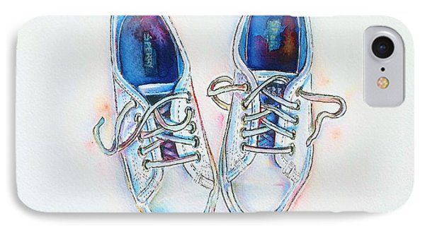 White Sneakers IPhone Case by Willow Heath