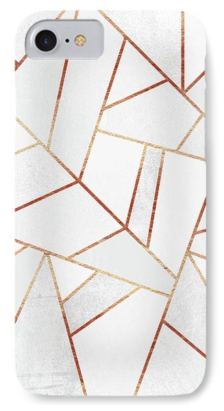 White Stone And Copper Lines IPhone Case by Elisabeth Fredriksson