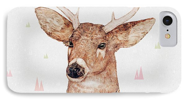 White Tailed Deer Square IPhone 7 Case by Animal Crew