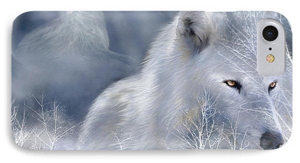White Wolf IPhone Case by Carol Cavalaris