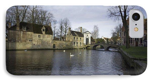 Wijngaardplein Bruges IPhone Case by Stephen Smith
