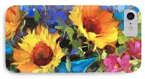 Wild Garden Sunflowers IPhone Case by Nancy Medina