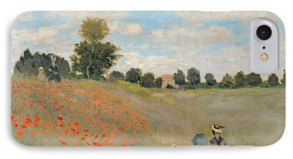 Wild Poppies Near Argenteuil IPhone Case by Claude Monet