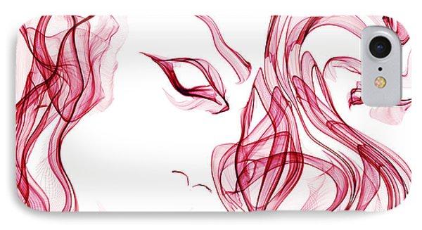 Wilder And Wilder Love IPhone Case by Abstract Angel Artist Stephen K