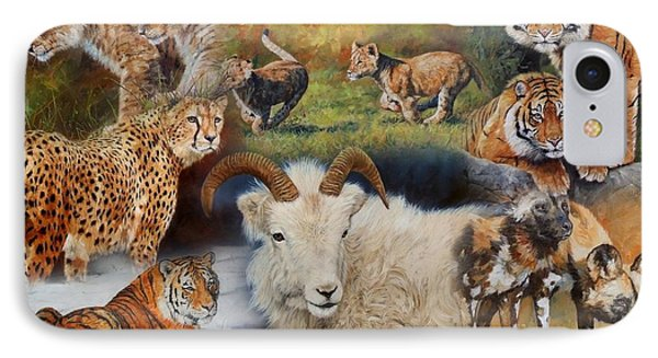 Wildlife Collage IPhone 7 Case by David Stribbling