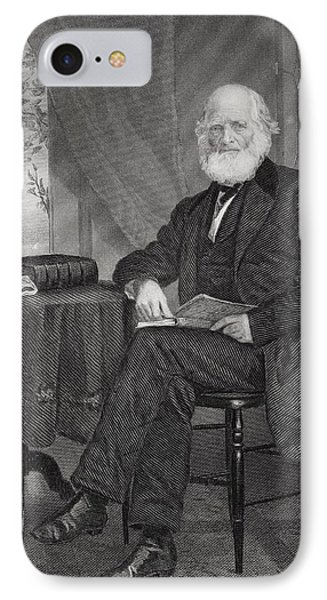 William Cullen Bryant 1794 1878 IPhone Case by Vintage Design Pics