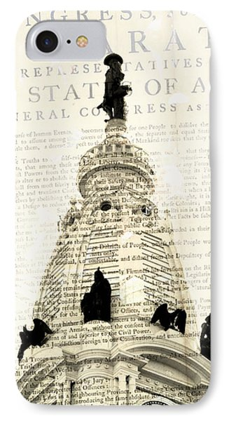 William Penn City Hall IPhone Case by Brandi Fitzgerald