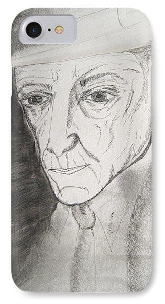 William S. Burroughs Phone Case by Darkest Artist