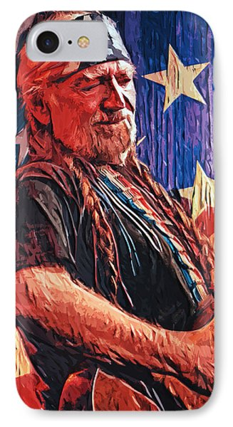 Willie Nelson IPhone 7 Case by Taylan Apukovska
