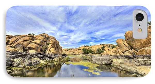 Willow Lake Waterscape #1 IPhone Case by Chris Featherstone