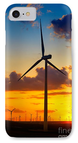 Wind Turbines IPhone Case by Gabriela Insuratelu