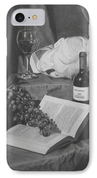 Wine And A Book Phone Case by Michael Malta