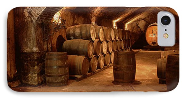 Wine Barrels In A Cellar, Buena Vista IPhone Case by Panoramic Images