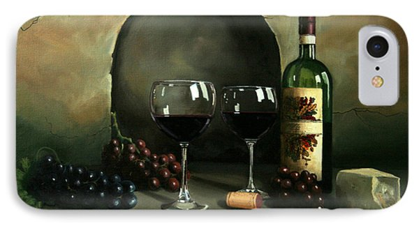 Wine For Two IPhone 7 Case by Paul Walsh