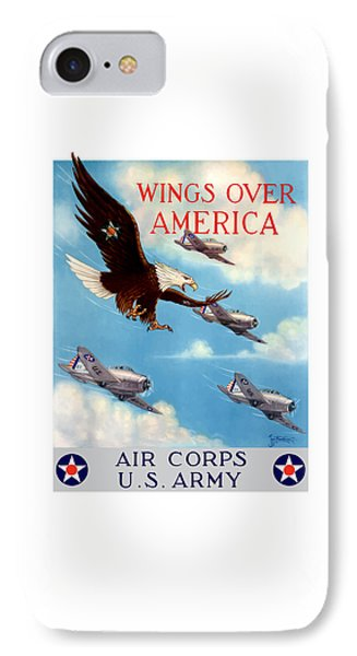 Wings Over America - Air Corps U.s. Army IPhone Case by War Is Hell Store