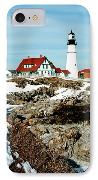 Winter At Portland Head Phone Case by Greg Fortier
