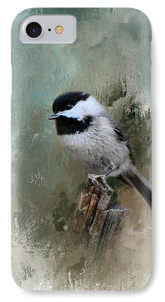Winter Chickadee IPhone Case by Jai Johnson